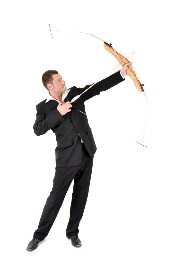 manager with bow